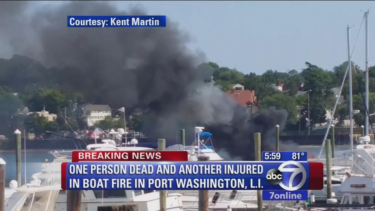 1 dead, 1 injured in Port Washington boat fire.