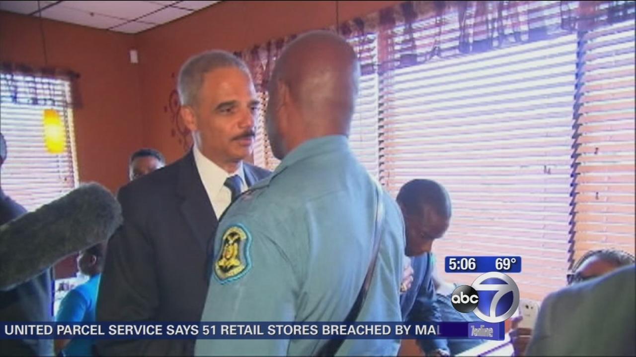 Attorney General Holder pays visit to Ferguson