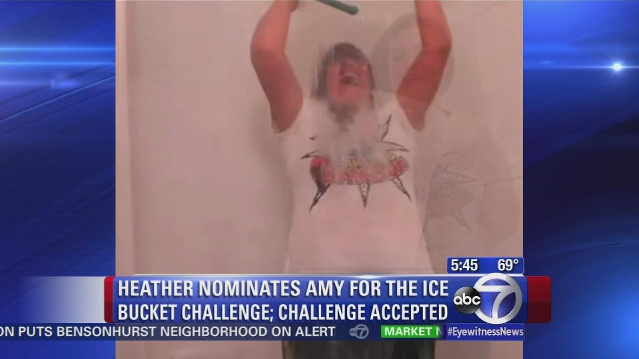 Amy Freeze accepts the Ice Bucket Challenge