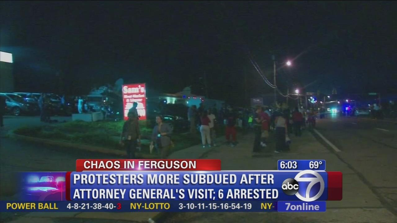 Streets of Ferguson calmer after Attorney Generals visit