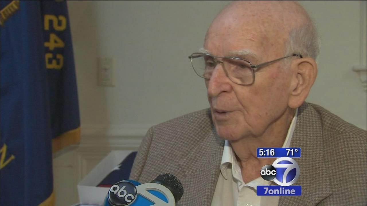 97-year-old veteran receives World War II medals 60 years later