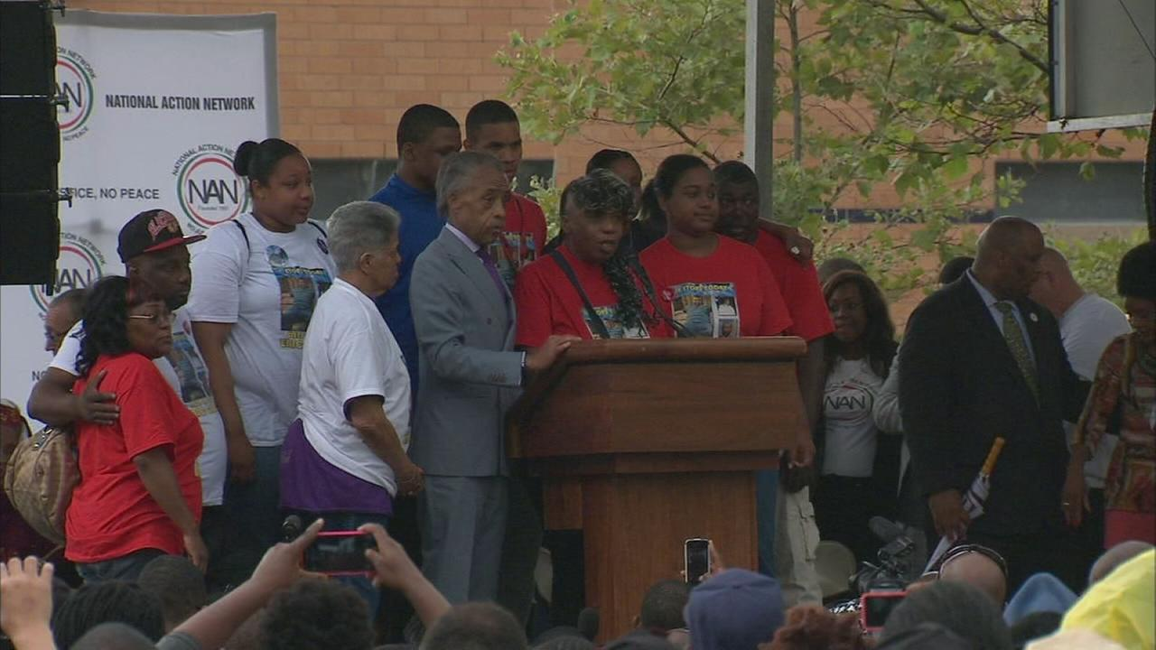 Family of Eric Garner speaks at rally