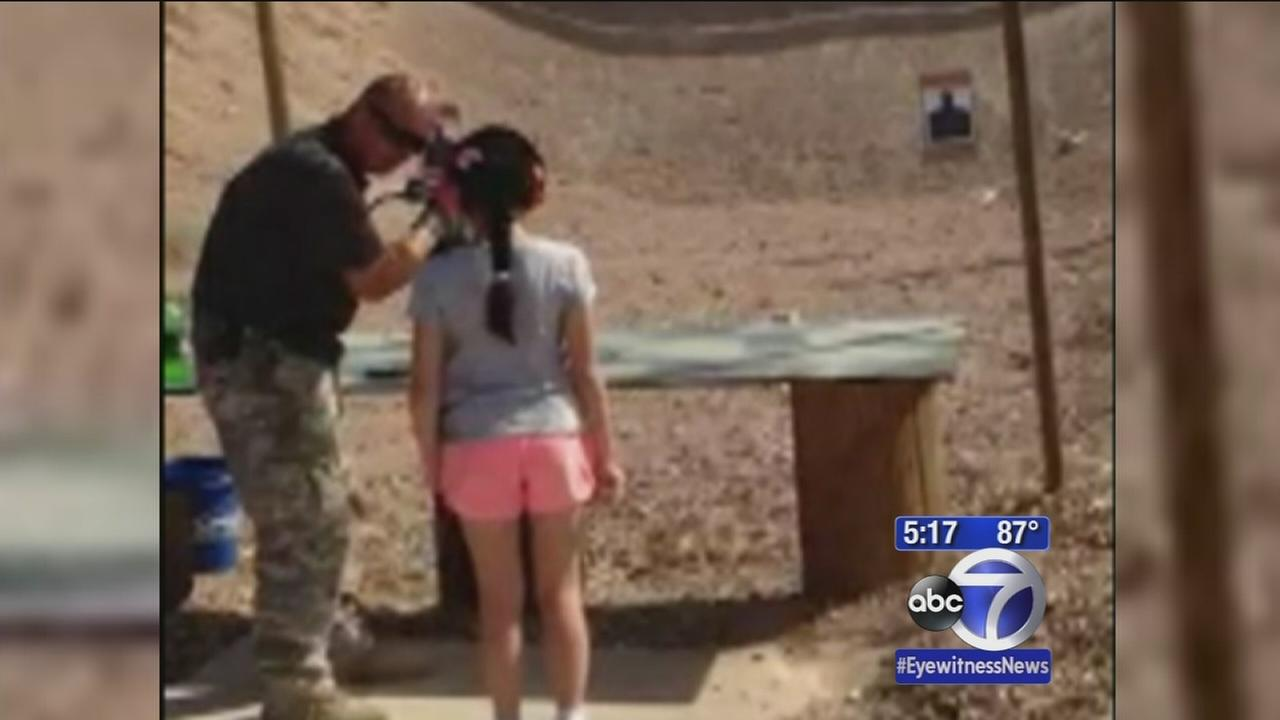 9-year-old shoots instructor with Uzi