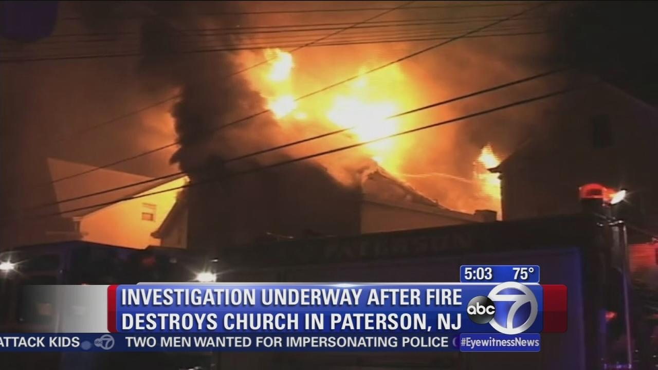 Fire guts church in Paterson