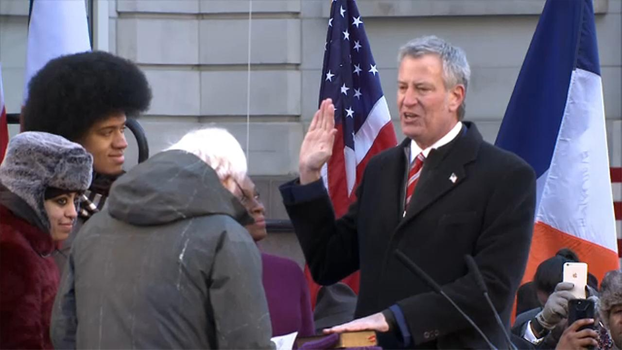 new york city mayor bill de blasio inauguration