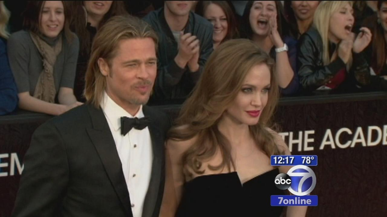 Angelina Jolie and Brad Pitt get married