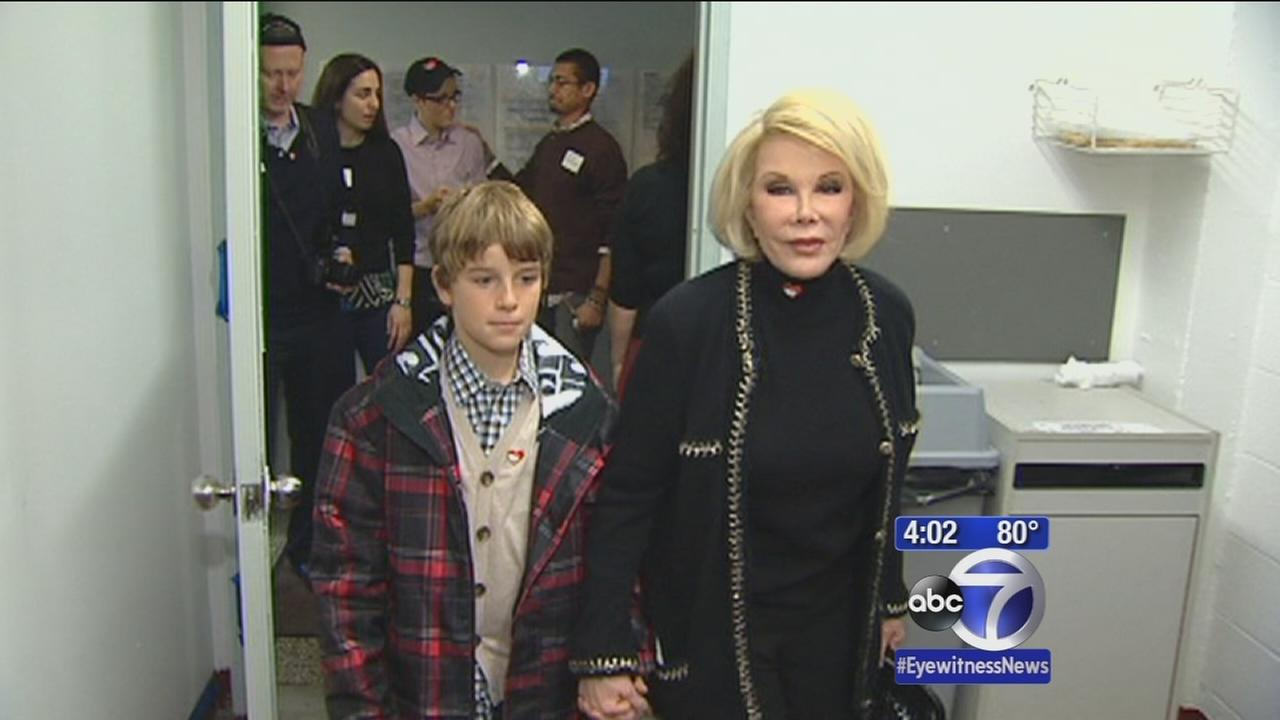 New Yorkers wishing Joan Rivers well