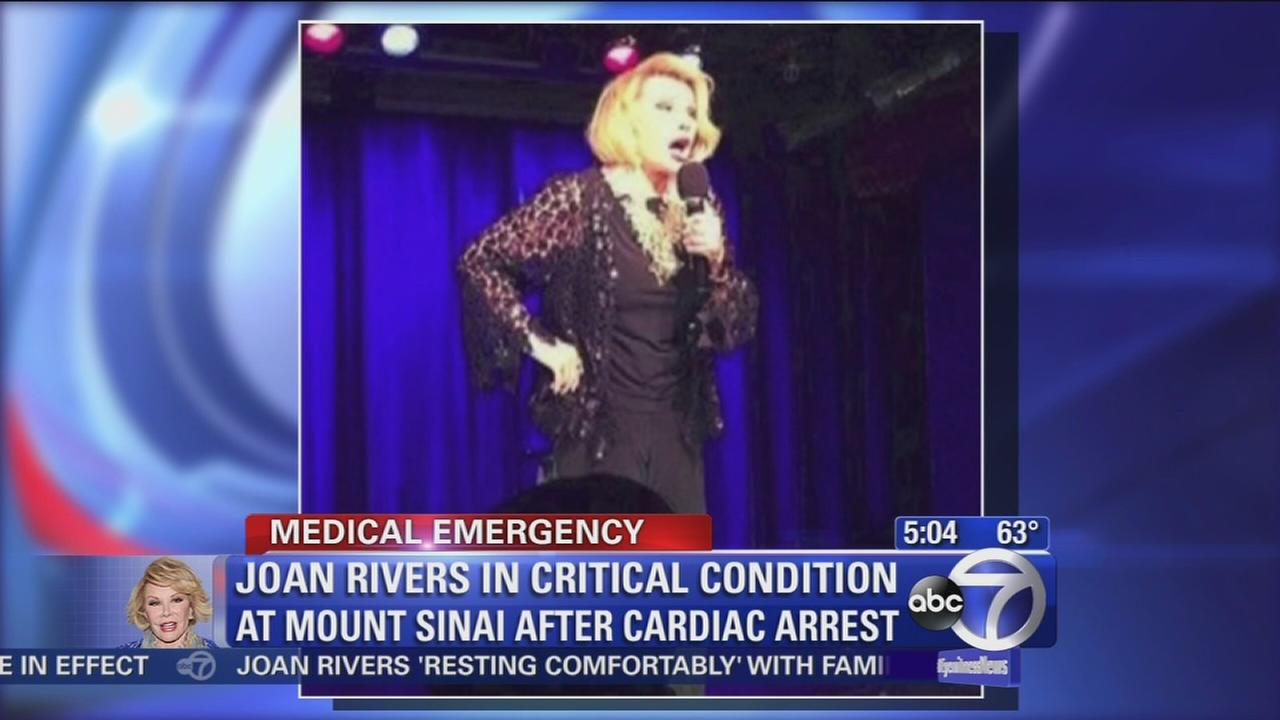Joan Rivers remains in critical condition