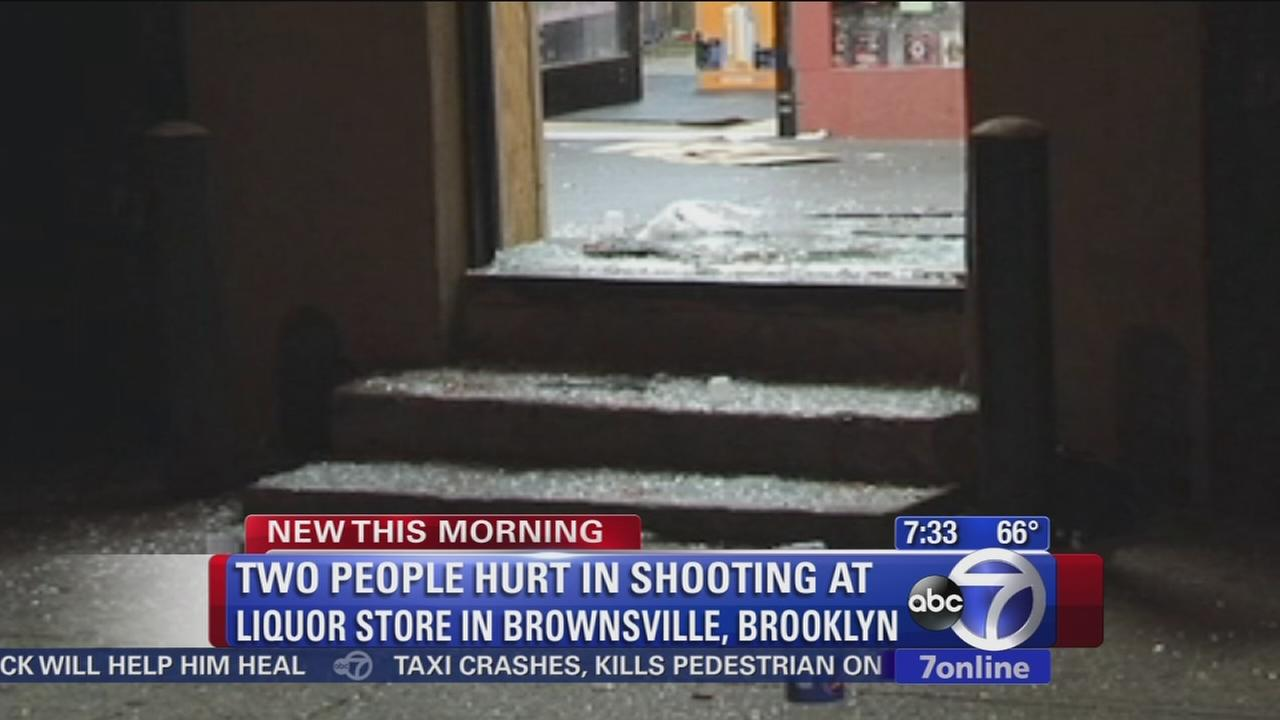 2 hurt in liquor store shooting in Brownsville