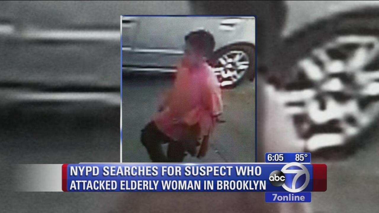 Elderly woman attacked while sitting on stoop in Brooklyn