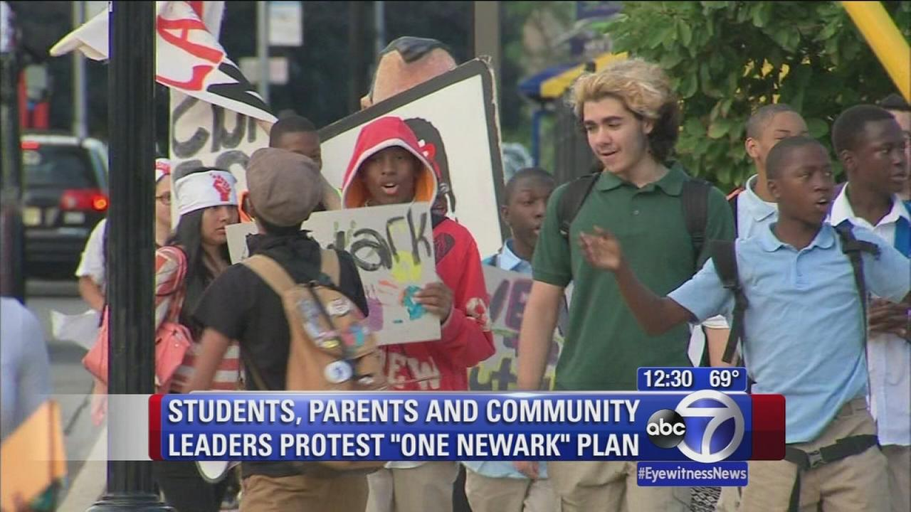 Students protest One Newark plan