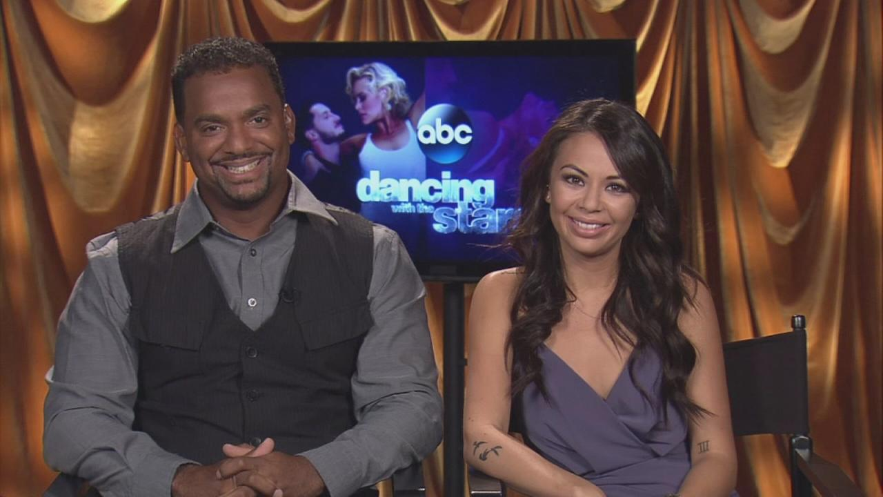 Alfonso Ribeiro and Janel Parrish talk about DWTS