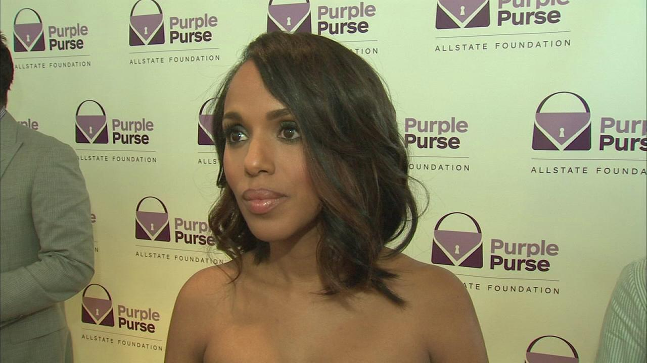 Kerry Washington talks about the Purple Purse program