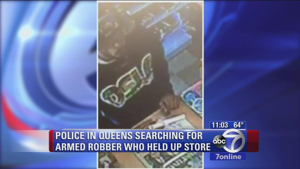 Search for armed robber in Queens