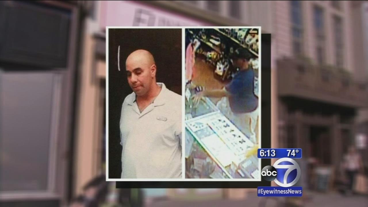 Search for man stealing tip jars and donation bins at stores
