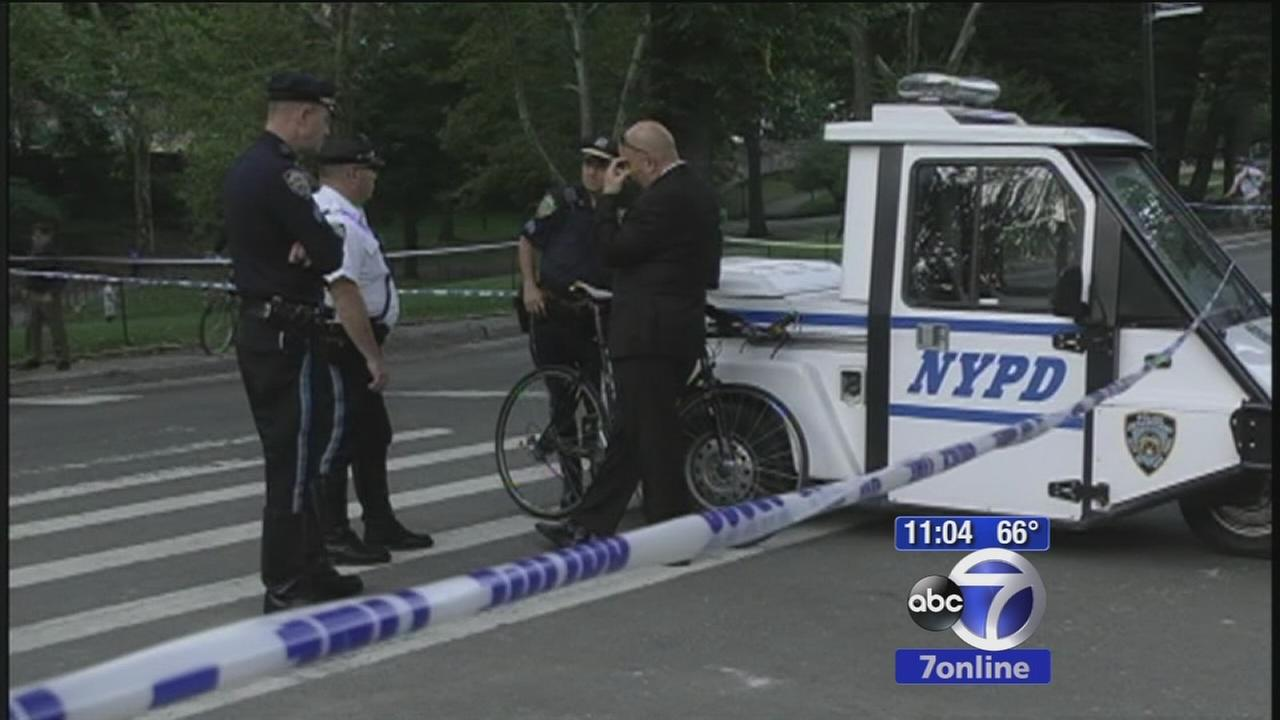Woman hit by bicyclist in Central Park