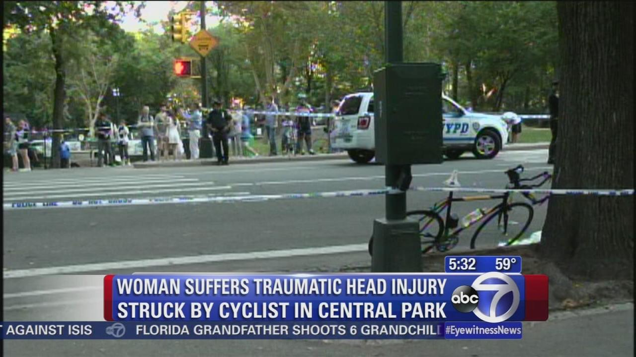 Woman seriously hurt after bike hits her in park