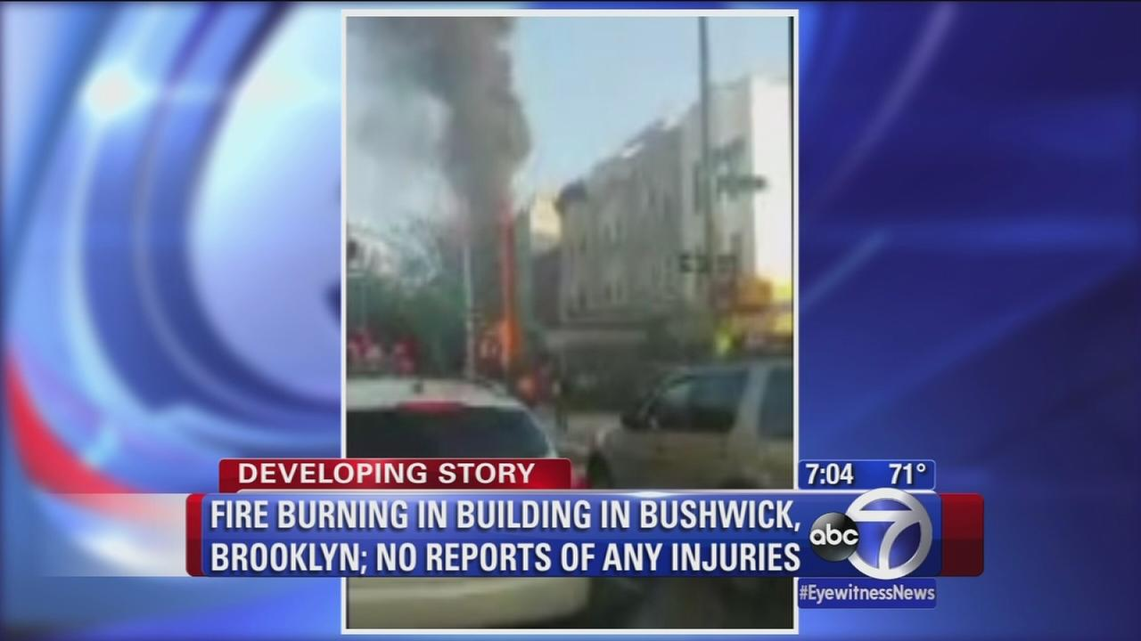 Fire burning in Bushwick home; no reports of any injuries
