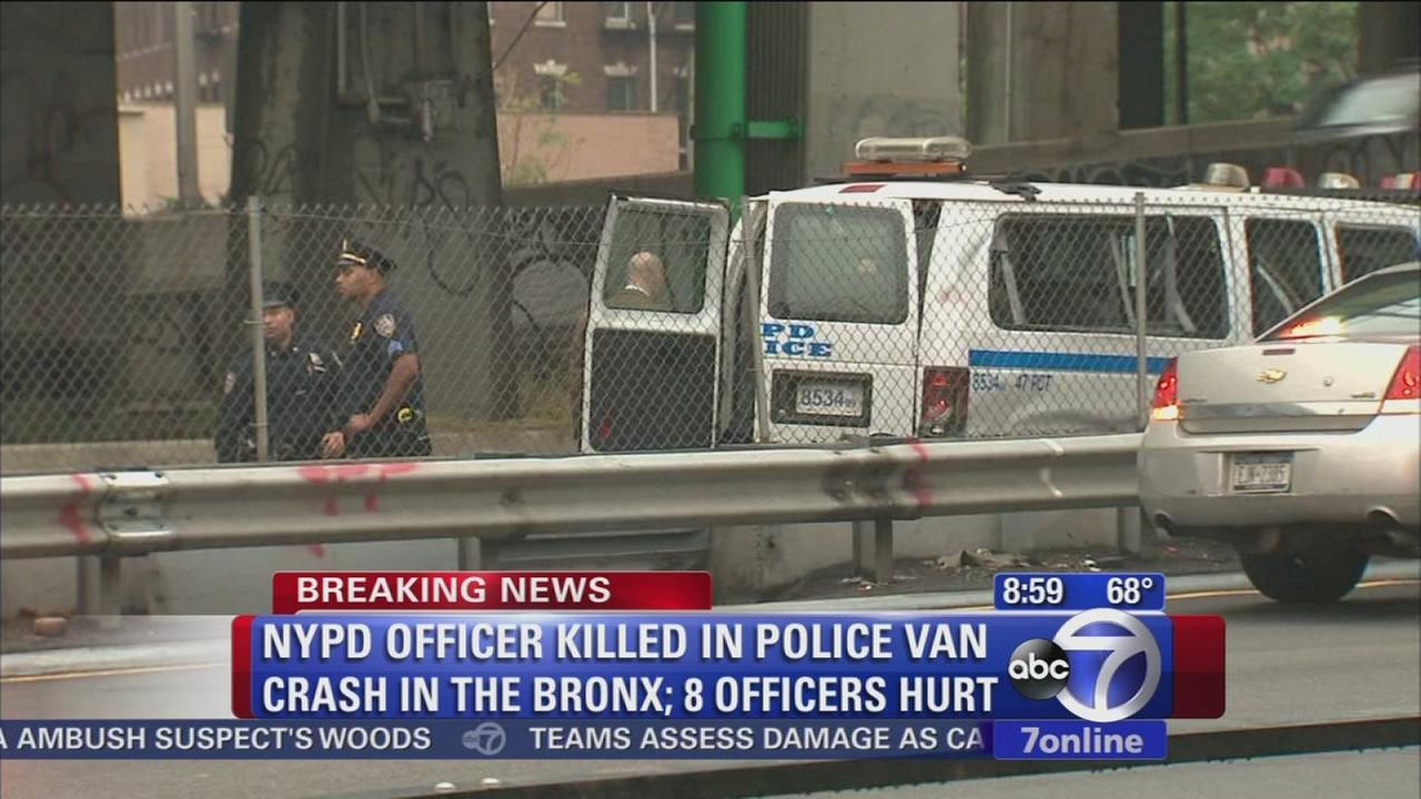 NYPD officer killed in Bronx police van crash