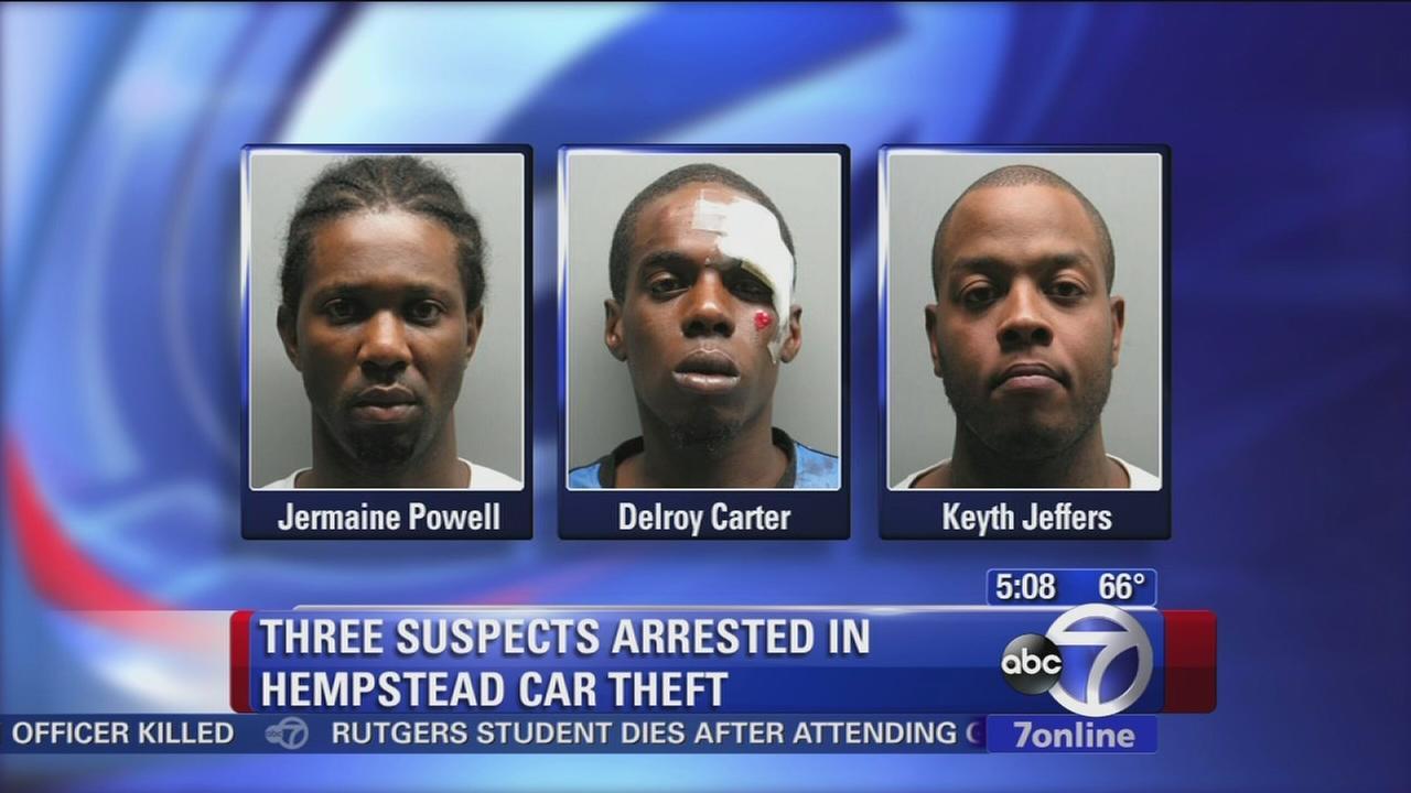 3 arrested after LI pursuit ends in crash