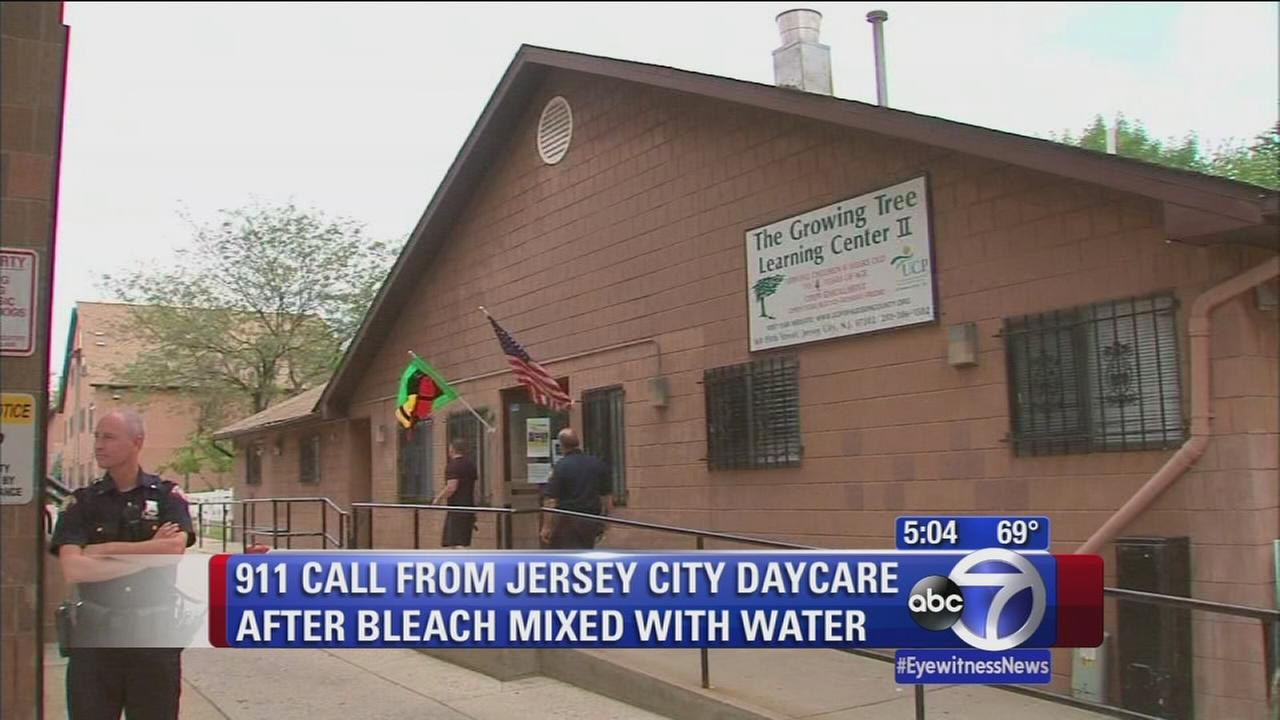 911 call from Jersey City daycare center after children drink bleach