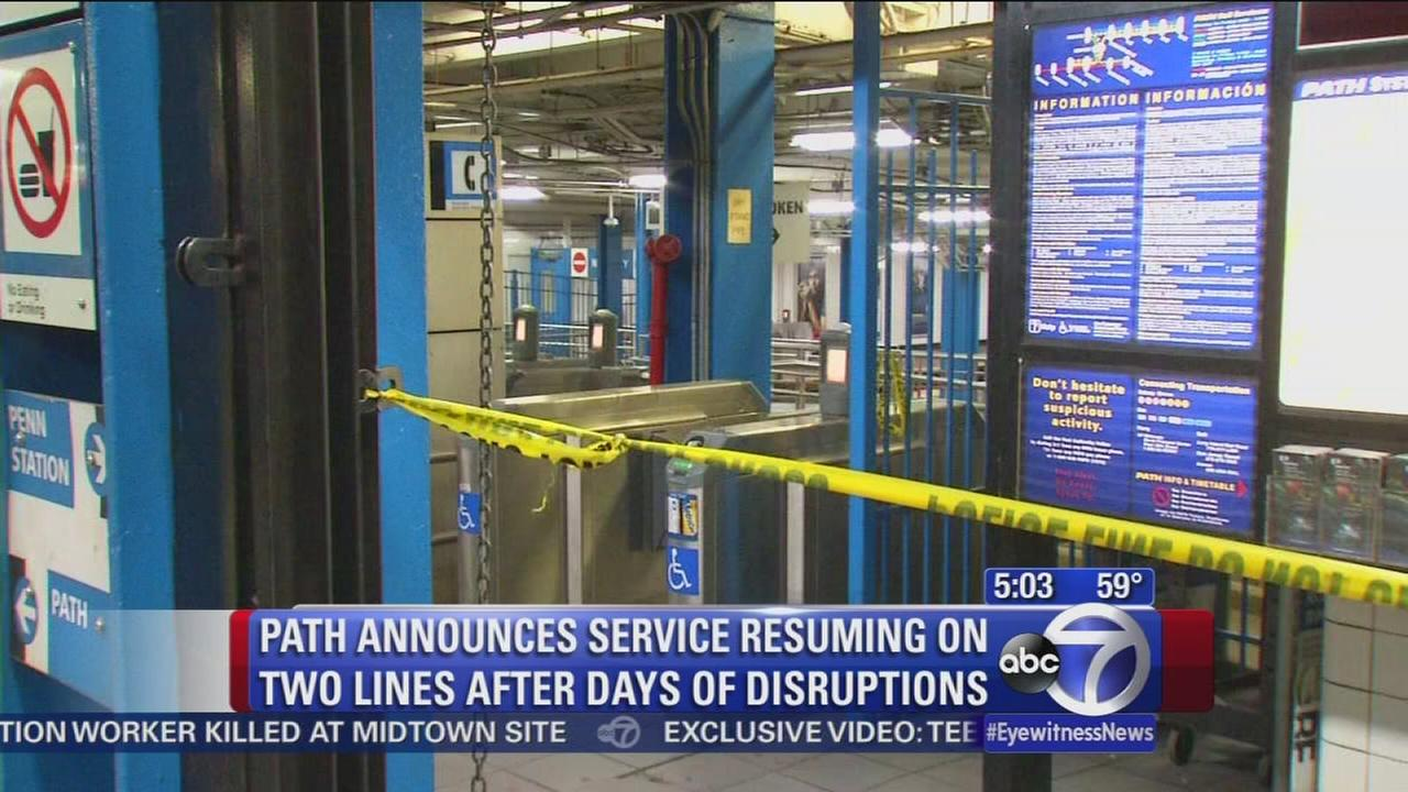 Service restored on 2 PATH lines suspended after weekend fire
