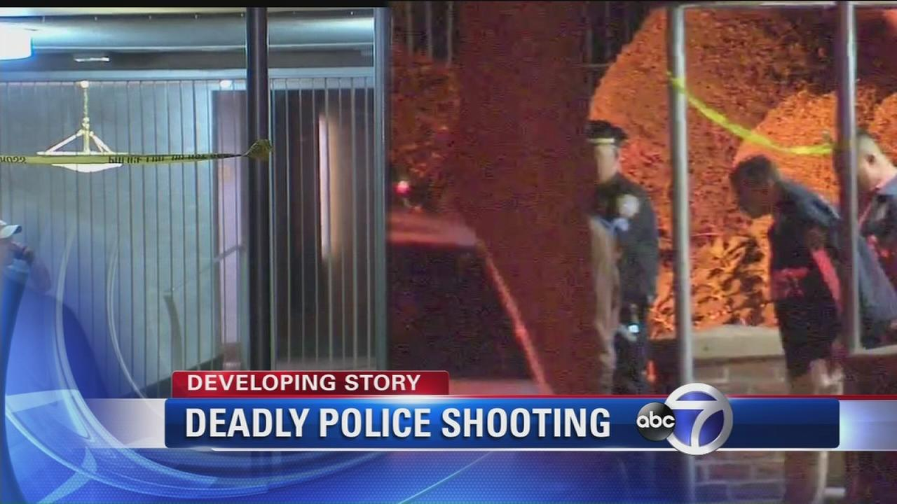 Man stabbed to death, knife-wielding man fatally shot by police