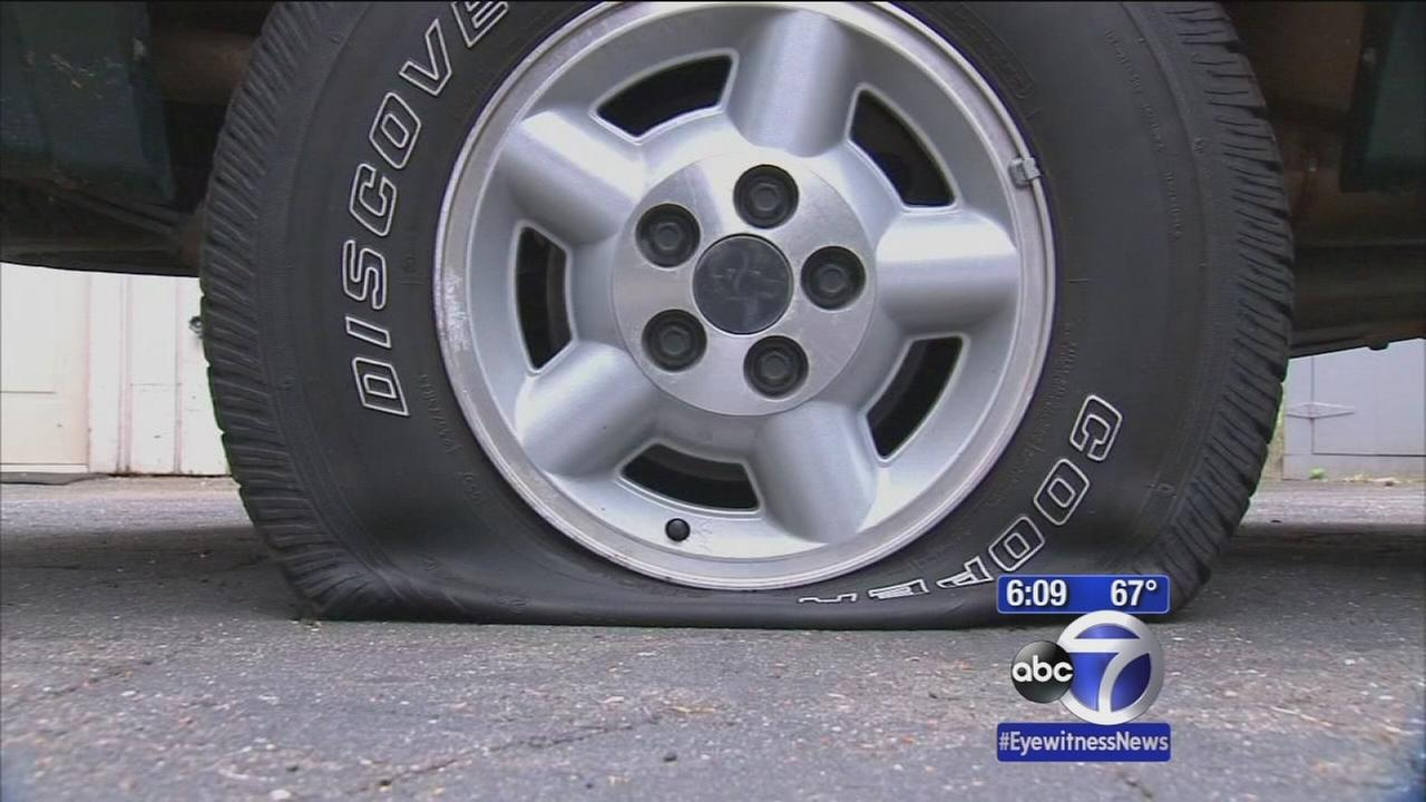 Search on for Stamford tire-slasher