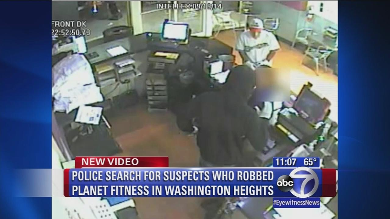 Surveillance of Planet Fitness robbery
