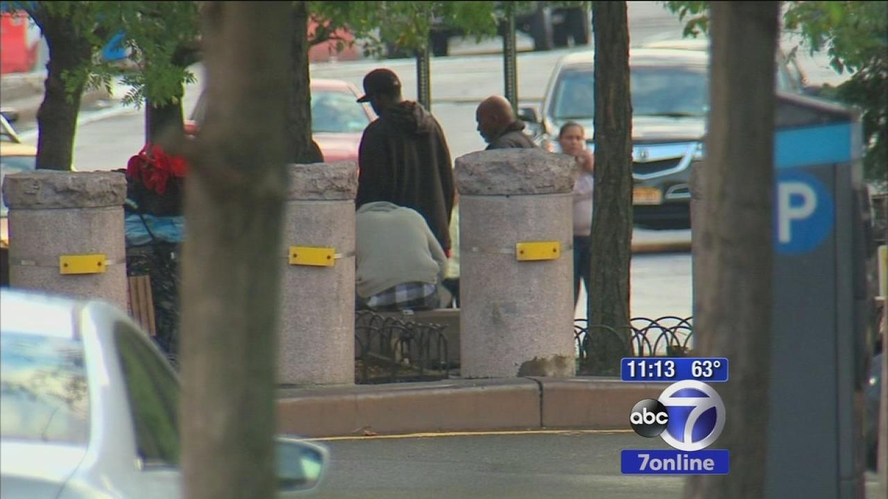 Residents complain that homeless people and drug use taking over park