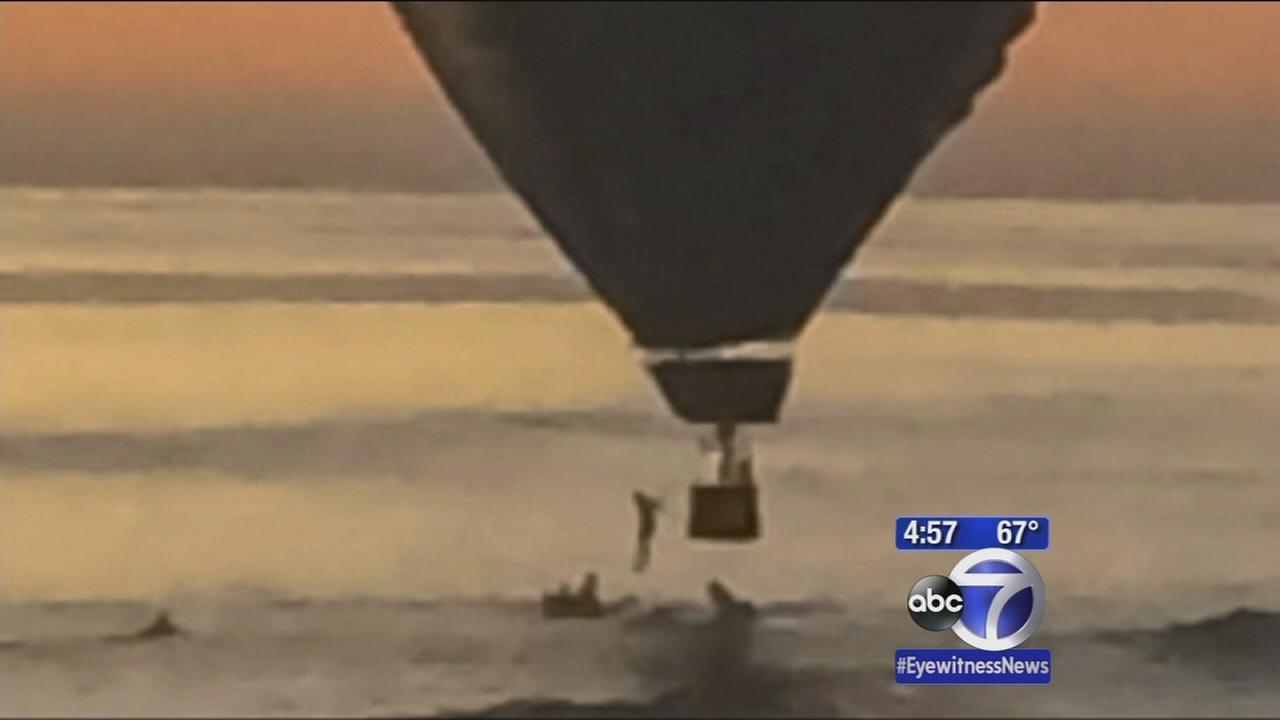 Hot air balloon crash lands in PAcific Ocean