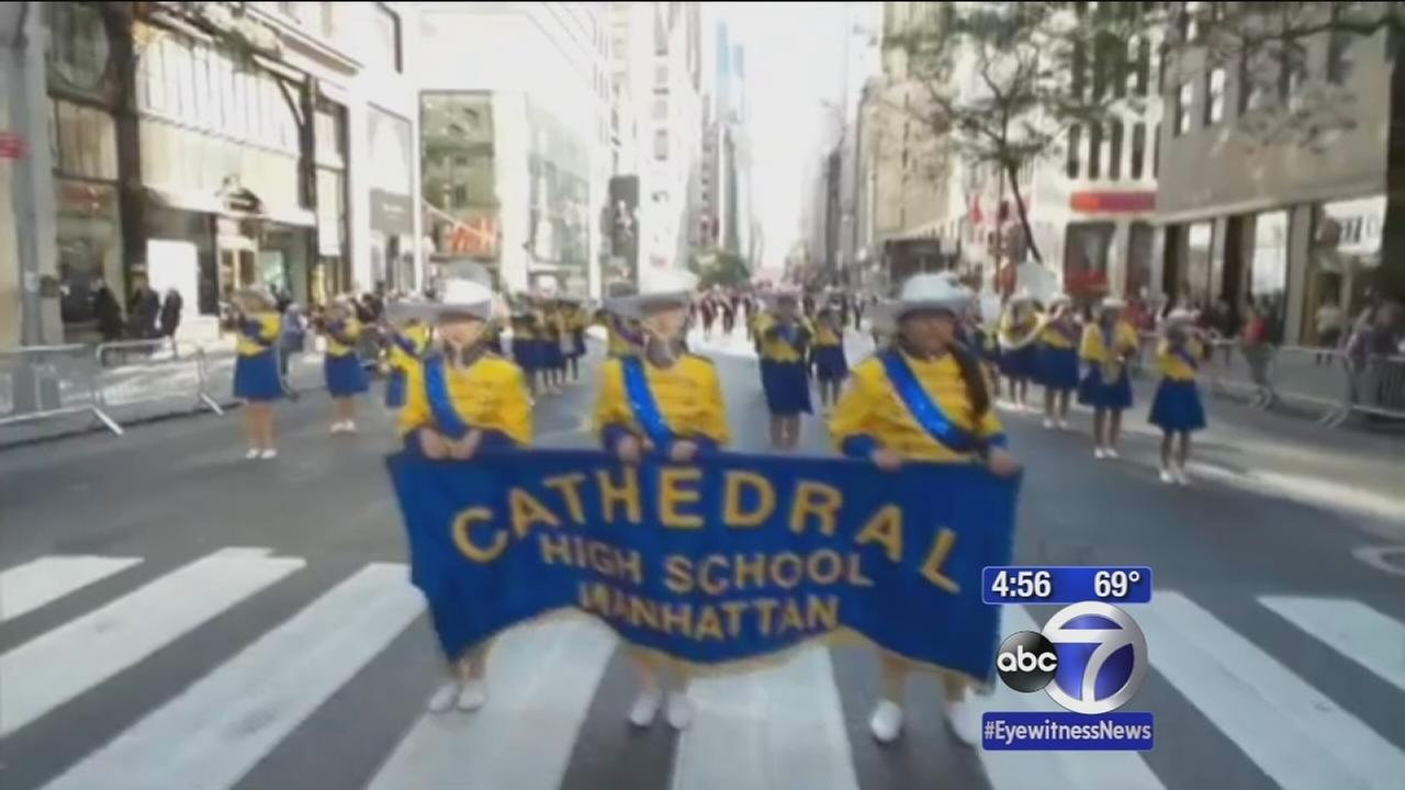 Cathedral High School prepares to play in Columbus Day Parade