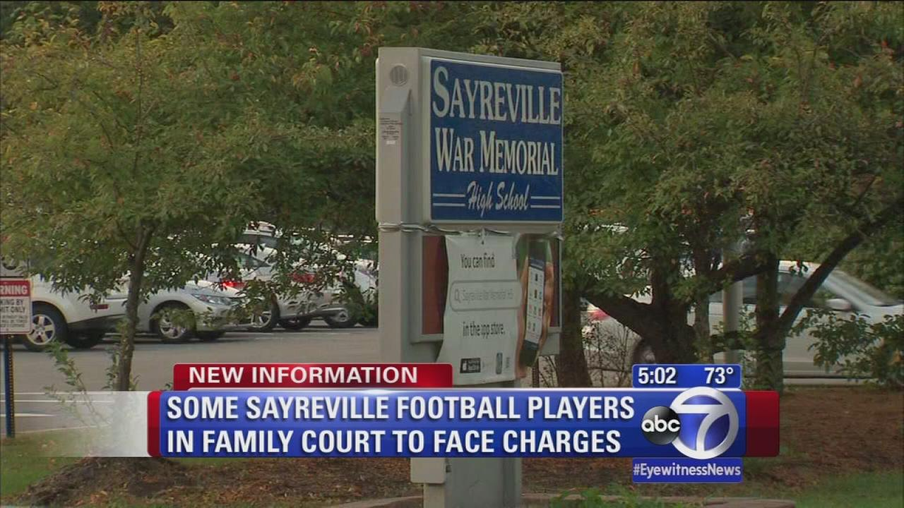 Some of 7 Sayreville football players charged appear in court