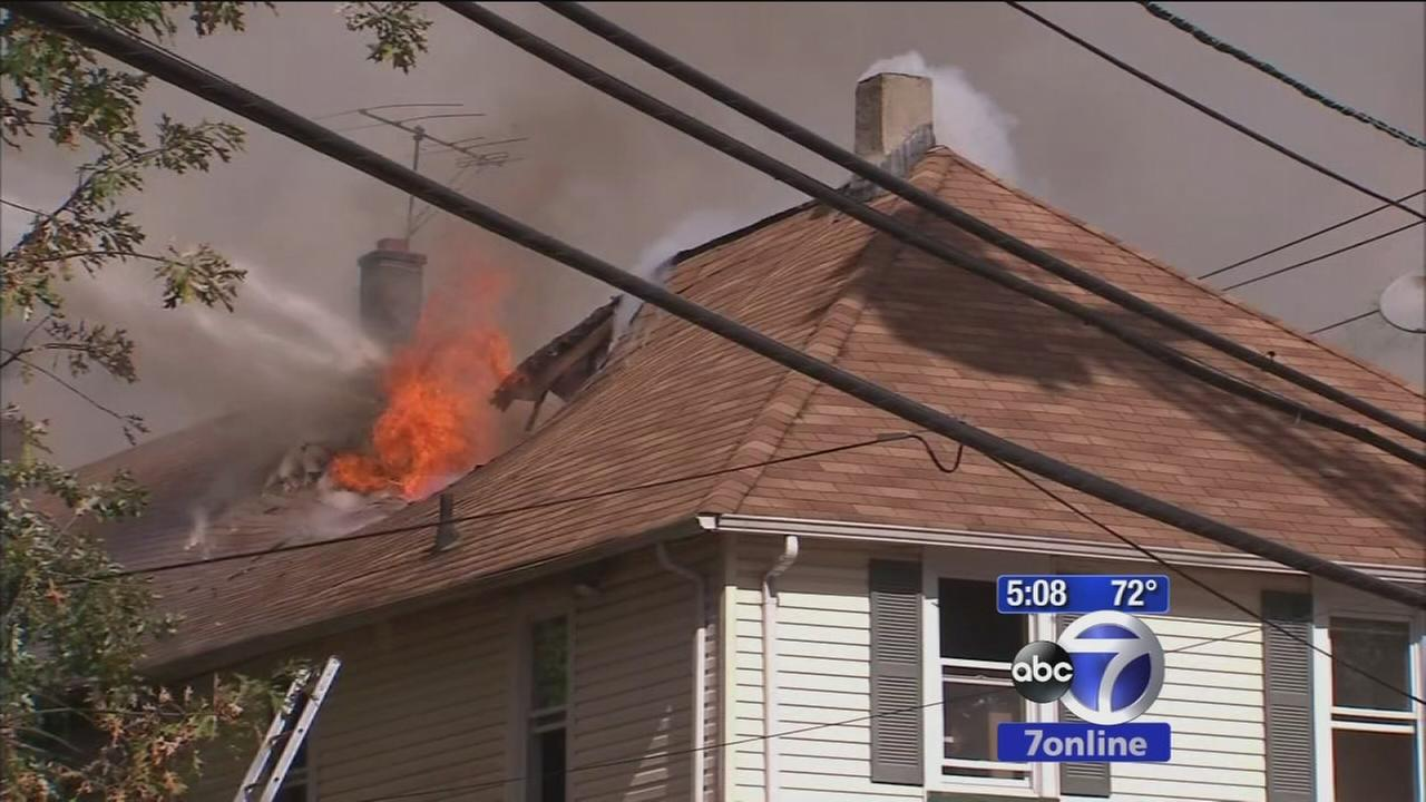 Firefighters battle condo complex fire in Dunellen, NJ