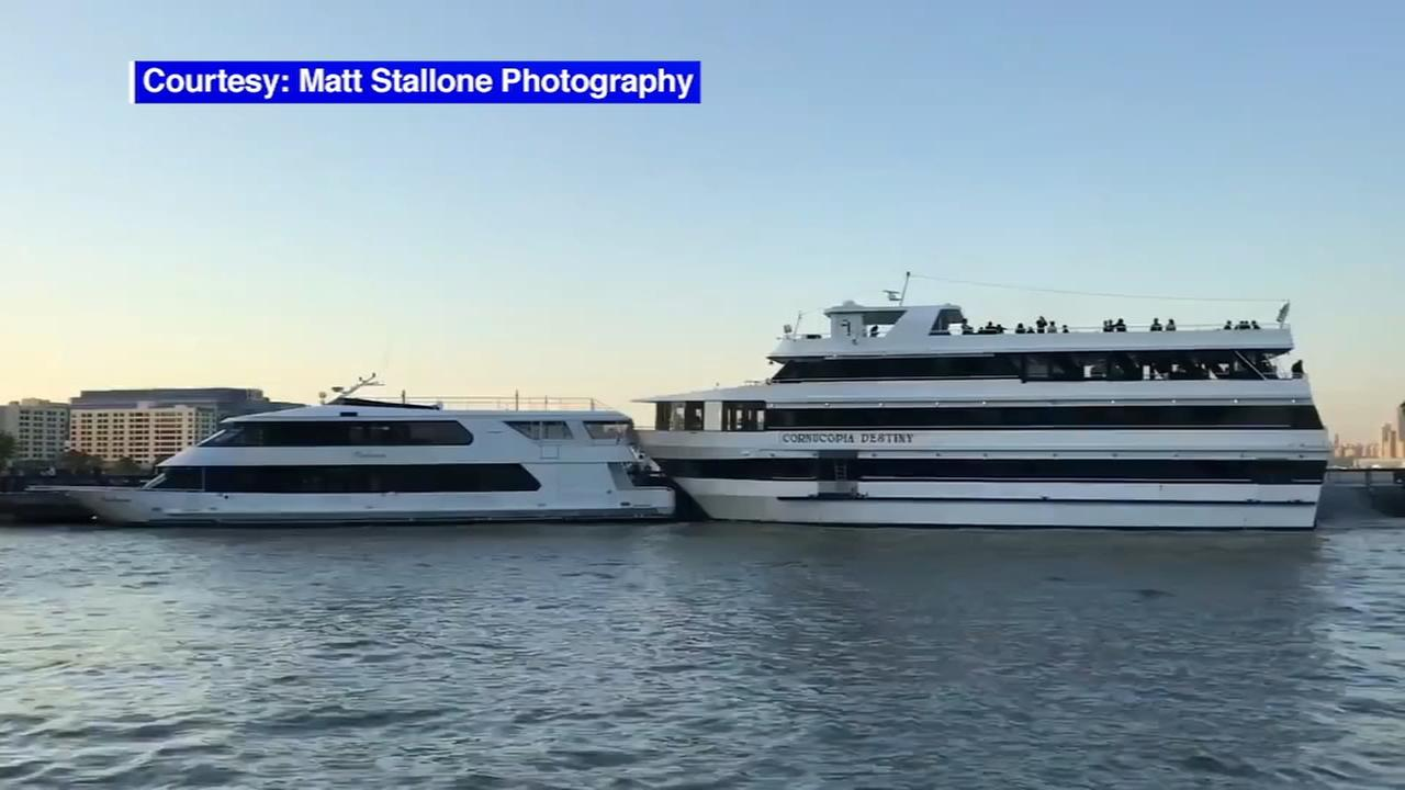 New Jersey high schools prom cut short when yachts collide on Hudson River