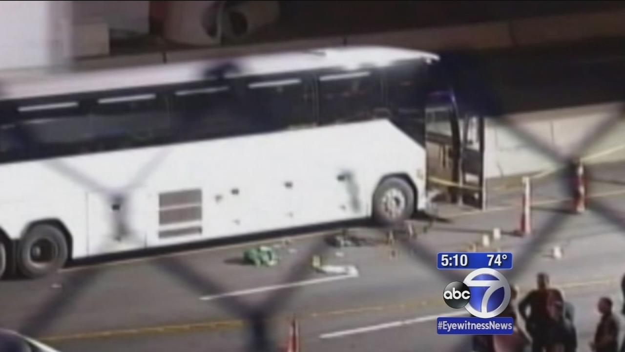 Trooper fatally shoots knife-wielding man on bus
