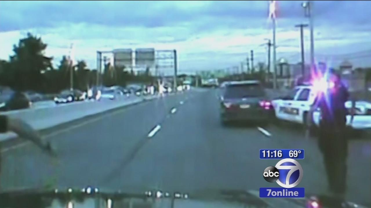 Dramatic new video of Ridgefield police chase