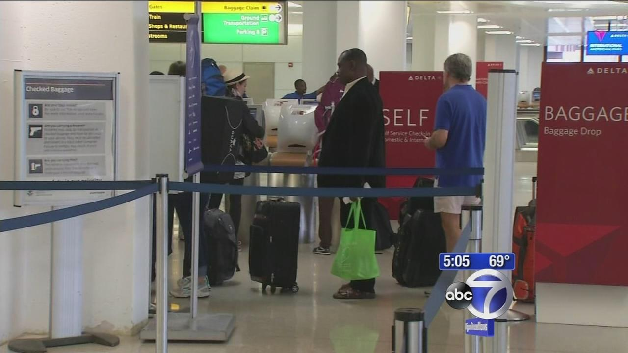 Stepped up screening at airports for Ebola