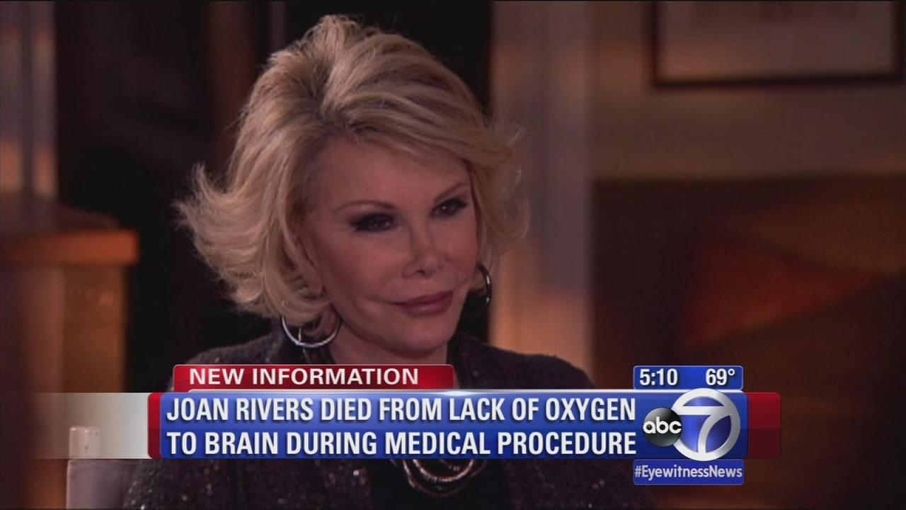 Report released on cause of death for Joan Rivers