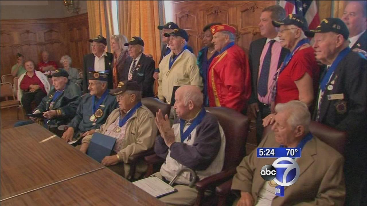 World War II veterans honored in special service