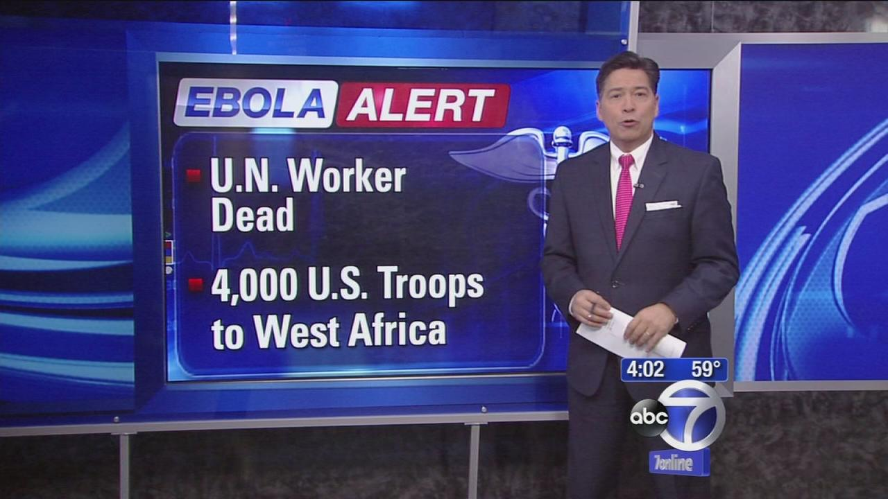 U.N. worker dies from Ebola, 4,000 U.S. troops to go to West Africa