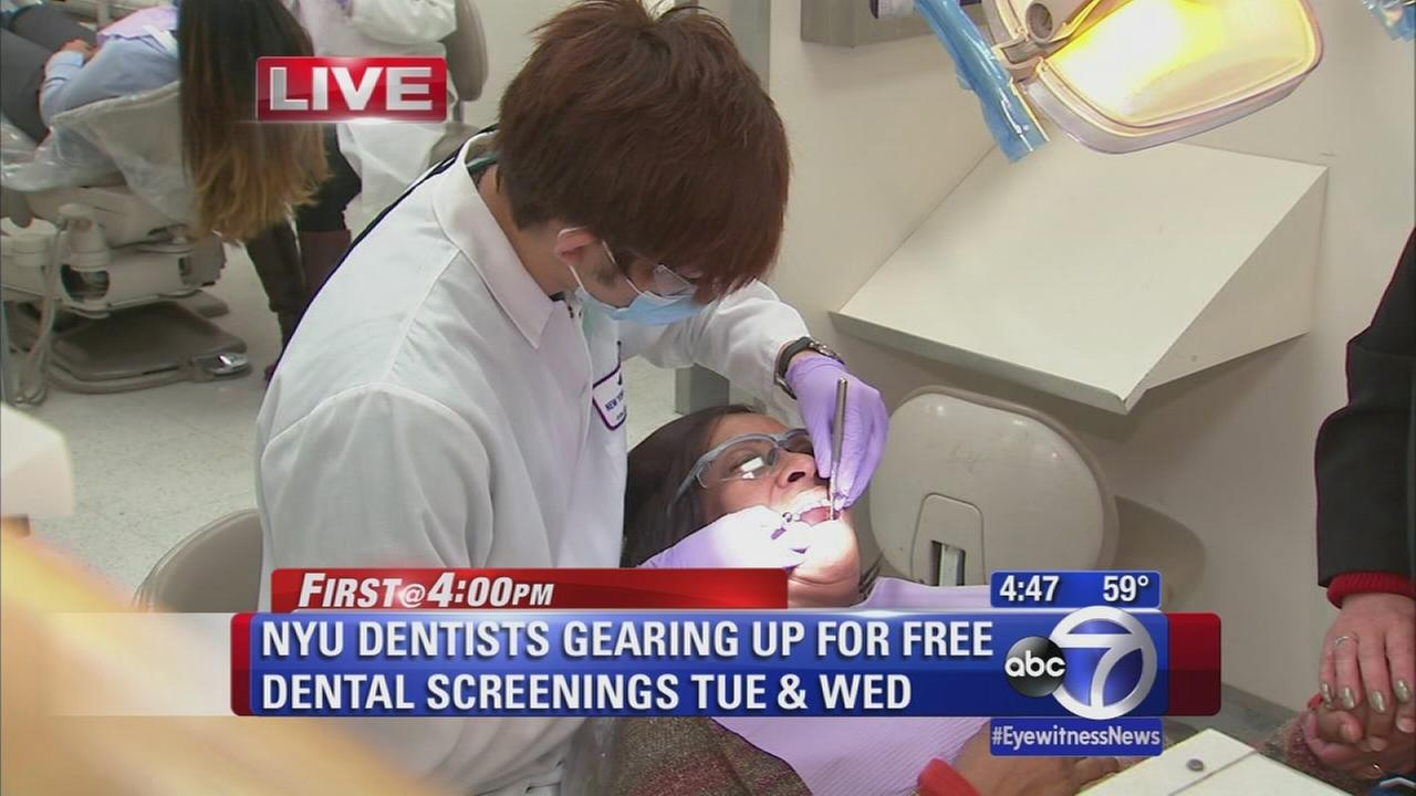 N.Y.U. dentists gear up for free dental screenings