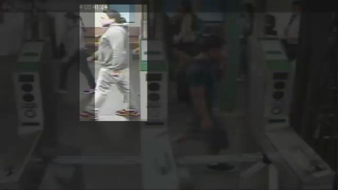 RAW: Video surveillance of No. 7 subway robbers