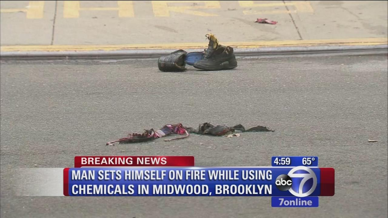 Man sets himself on fire while using chemicals in Brooklyn