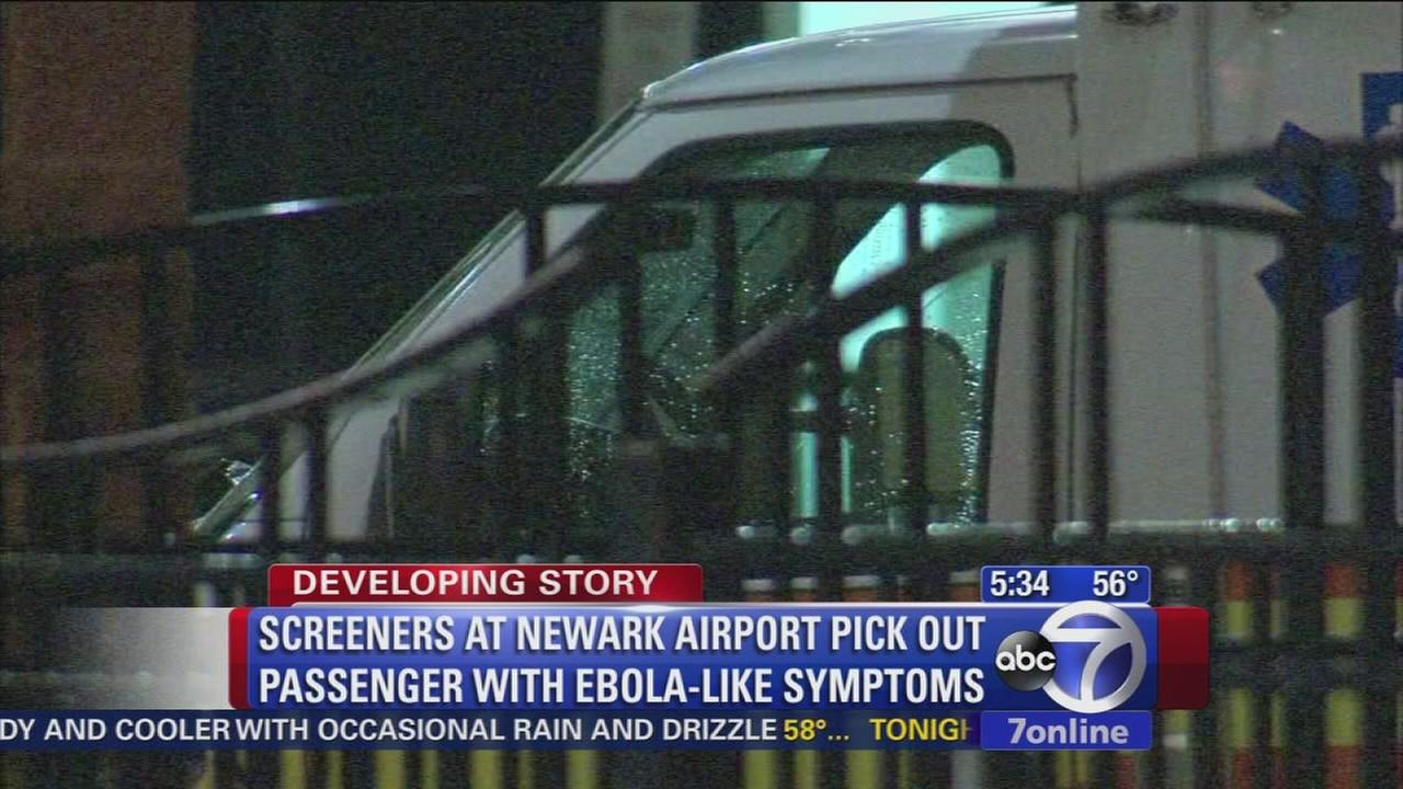 Newark airport passenger awaits Ebola test results