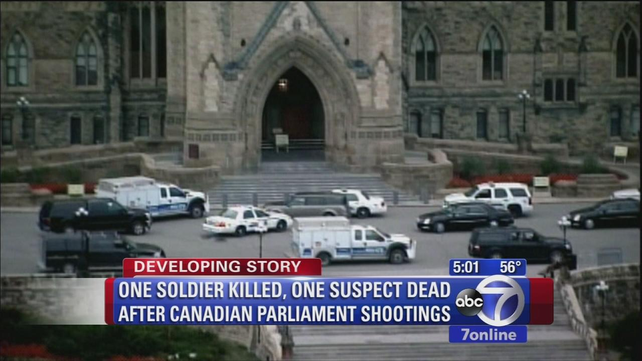 1 soldier killed, 1 suspect dead after Canadian parliament shootings