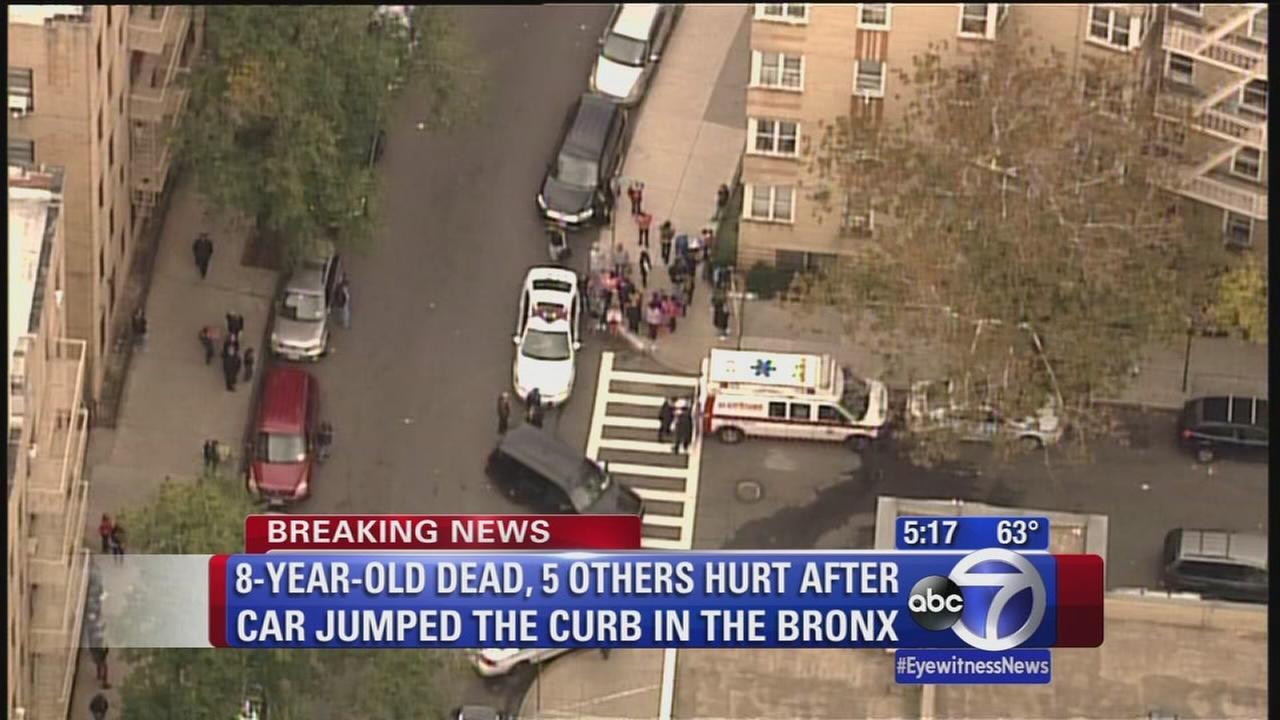 8-year old killed when car jumps curb in the Bronx