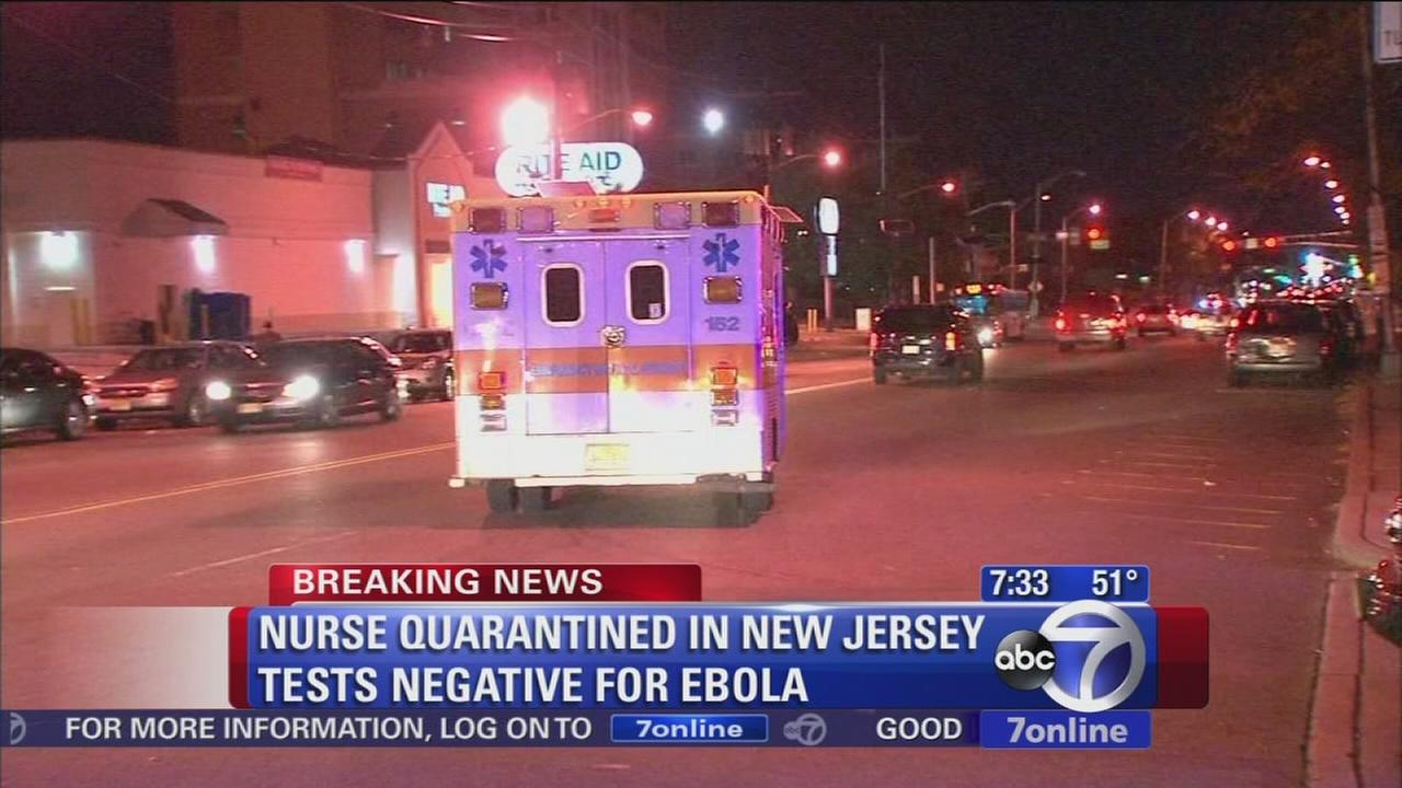 Health care worker tests negative for Ebola in Newark