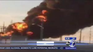 Oil terminal fire