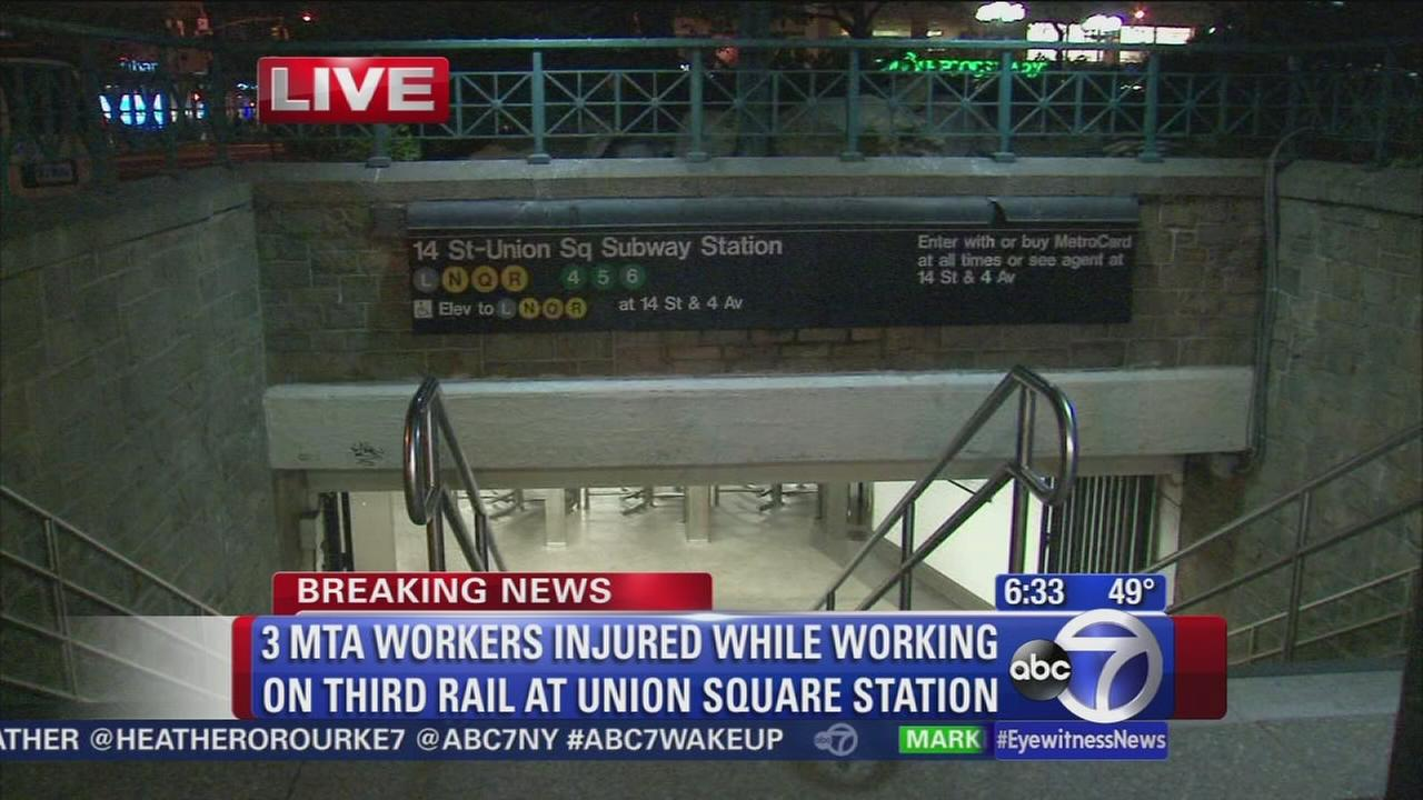 MTA workers injured at subway station